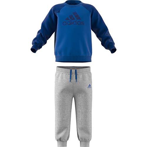 adidas Baby Logo Jogger Fleece Trainingsanzug, Blue/Collegiate Royal, 74