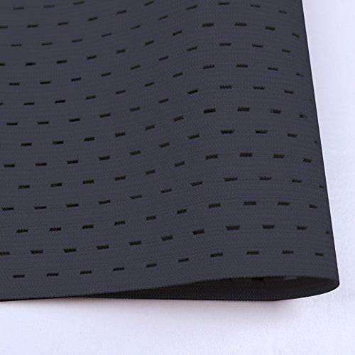 FeelinGirl Damen Korsett Tailenmieder Bauchweggürtel Corsage Corset Korsage Top (XXL, Schwarz ohne Stahl) - 6