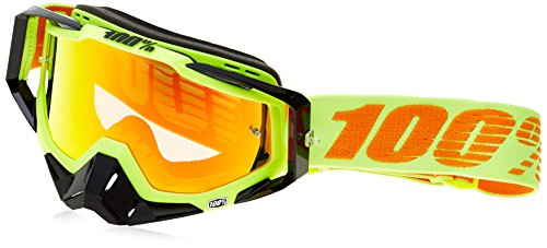 100% 50100-026-02 Racecraft Brille Attack - Klar Linse, Gelb, Größe One Size