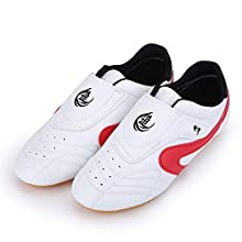 VGEBY Unisex-Adults TaiChi Kong Fu Taekwondo Boxing Karate Training Shoes 42 White