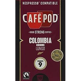 CaféPod 10 Ethiopia Sidamo Lungo Nespresso Compatible Capsules (Pack of 10 Total of 100 Capsules)