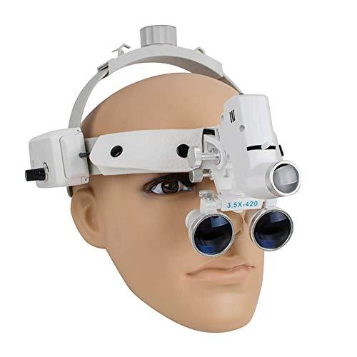 SJ_0515 Magnifier 3.5X Optisch Dental Binokularlupen Brille Kopfband Lupe mit LED-Licht - 4h 4 Licht