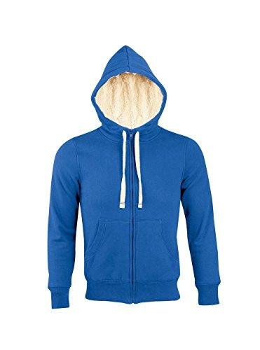 L482 Unisex Zipped Jacket Sherpa Damen-/Herren Kapuzenjacke, Farbe:ROYAL BLUE;Größen:S
