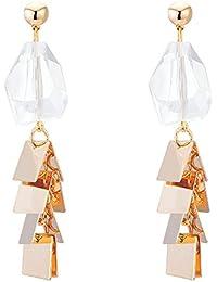 4c65ea86aaa0 Classic quality Maravillosamente joyería Colgante de Cristal antiguo  tornillo oído wild irregulares aretes de chapa metálica