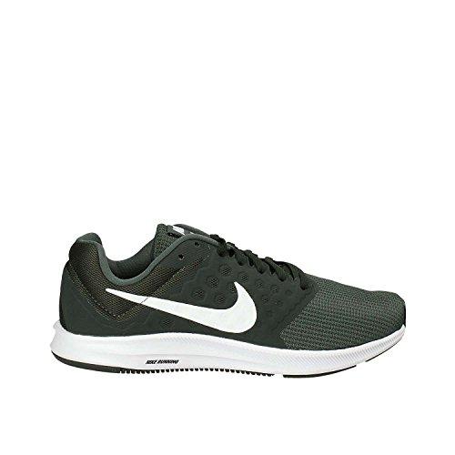 Nike Herren Downshifter 7 Laufschuhe, Grün (Vintage Green/Outdoor Green/Black/White), 44.5 EU (White Vintage Nylon)