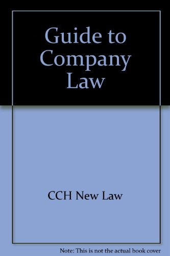 Guide to Company Law por CCH New Law