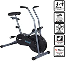 Fitkit FK600 Steel Airbike with Free 3 Month Diet and Fitness Plan by certified Dietitian , Personal Trainer , Doctor...