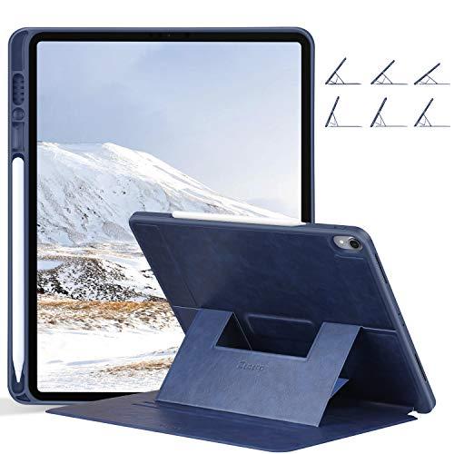 ZtotopCase Hülle for 2018 iPad Pro 12.9 3. Generationen,Magnetisch Schutzhülle mit Pencil Halter und mehrere Blickwinkel,Auto Wake/Sleep Cover für iPad Pro 12.9 Zoll 2018 A1876/A1895/A2014,Navy Blau -