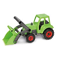 SIMM Spielwaren Lena 04213Eco Tractor with Front Shovel Approximately 35cm
