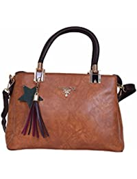 Brown Hand Bag Star Hand Carry Sling Bag For Women & Girl (Brown)