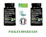 Garcinia Cambogia Bio–50% HCA–* 1500mg–Minceur–Control del Peso–Lote de 2x 60Cápsulas–fabricado en Francia -