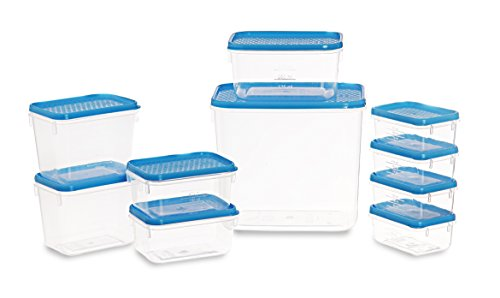 All Time Plastics Polka Container Set, 10-Pieces