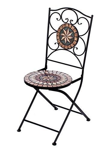 Hochwertiges aufwendig gearbeitetes Mosaik Stuhl Set bestehend aus 2 Stühlen NA1514-B33 stabiles...