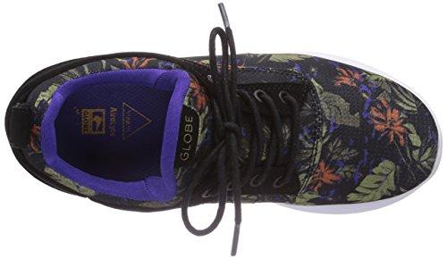 Globe Roam Lyte, Low-Top Sneaker mixte adulte Mehrfarbig (black/leaves 20092)
