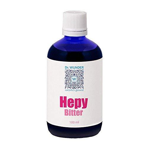 Dr. Wunder Hepy-Bitter 100ml: Bittere Kräuteressenz zur Unterstützung von Verdauung & Leberfunktion || Unterstützung bei Leberreinigung & Entgiftung || wertvolle Bitterstoffe zur Gallenproduktion