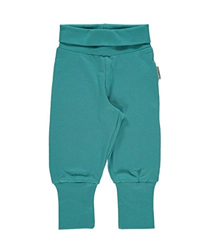 Maxomorra Baby Pants Rib SOFT PETROL 62/68 (Cuff Capri Hose Jeans)