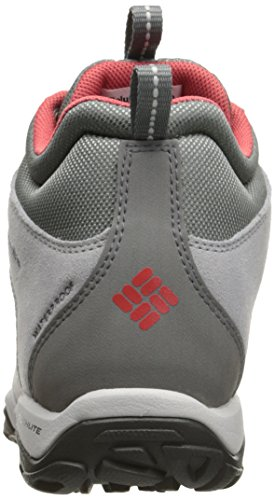 Columbia Fire Venture Mid Waterproof, Chaussures Multisport Outdoor Femme Gris (Steam/ Sunset Red)