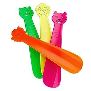 Lantelme 3108 Lot de 4 chausse-pied colorés pour enfants