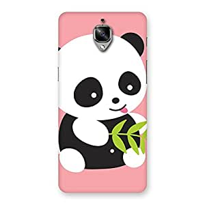 NEO WORLD Premium Pink Panda Back Case Cover for OnePlus 3T