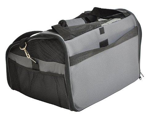 nanook Auto Transporttasche für Tiere / Transportbox – 43 cm – anthrazit – für Hunde, Katzen und Nager – mit Gurtbefestigung - 4