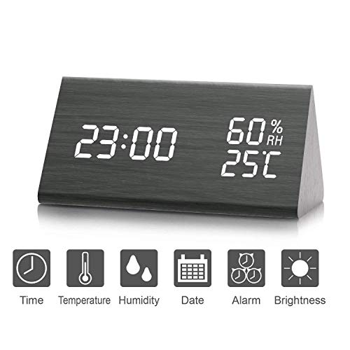 Despertador, Higrómetro, Termómetro Digital, Brillo