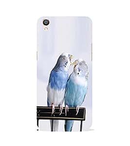 PrintVisa Designer Back Case Cover for Oppo F1 Plus :: Oppo R9 (White Couple Of Parrots)
