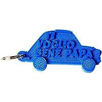 """Portachiavi Auto """"Ti voglio bene Papà"""" in stampa 3D - Idea regalo, festa del papà"""