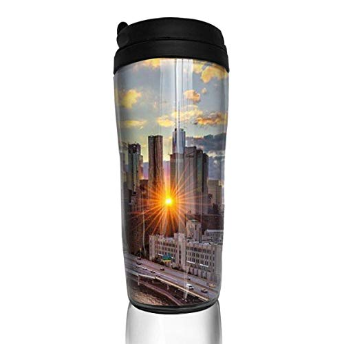 Travel Coffee Mug Beautiful New York 12 Oz Spill Proof Flip Lid Water Bottle Environmental Protection Material ABS