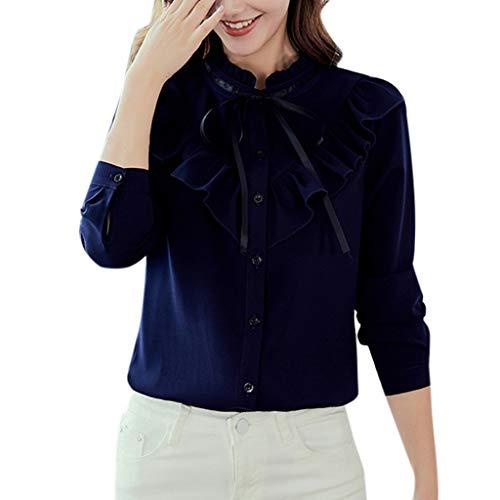 NPRADLA Maglietta Manica Lunga Donna Elegante Camicia A Marsupio con Cappuccio Color Block Scont Inverno Autunno