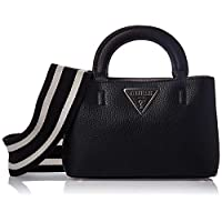 GUESS Womens Mini Satchel Bag, Black - VG743976
