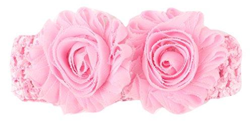 EOZY Fille d'Ange Bébé Bandeau Cheveux Élastique Mignon Florale Headband Rose