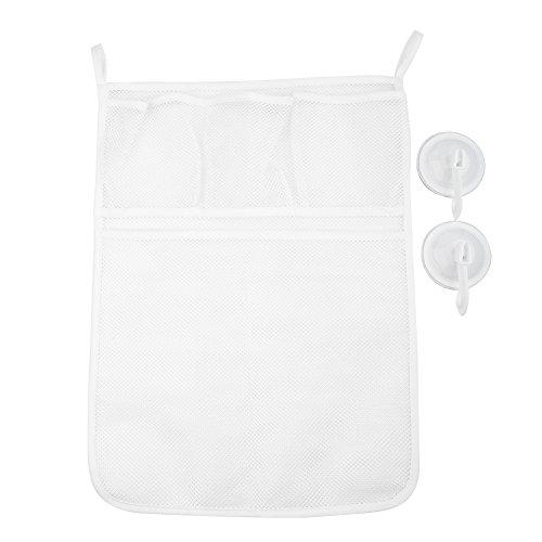 eug Organizer Set Badewanne Organizer Große Storage Net Tasche mit Taschen für Dusche Toys of Kids Baby ()