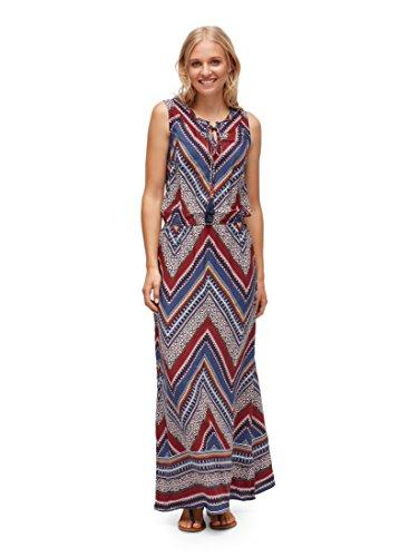 TOM TAILOR für Frauen Kleider & Jumpsuits Gemustertes Maxikleid Real Navy Blue, 40