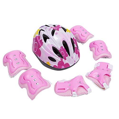 YF-SHIELD Kinderschutzausrüstung Jugendschutzausrüstung Plus Helm Knieschützer Ellbogenschützer für das Rollschuh Skateboard Baby Balance Car,2