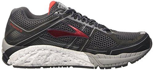 Brooks Addiction 12, Chaussures de Running Compétition Homme Noir (Anthracite/highriskred/silver)