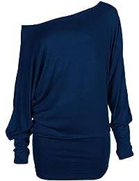 Chocolate Pickle ® nouvelles dames plus la taille de l'épaule ample chauve-souris à manches longues en reste robe top