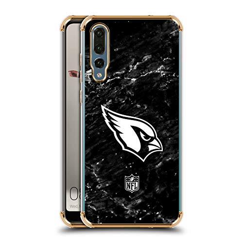 Head Case Designs Offizielle NFL Marmor 2017/18 Arizona Cardinals Gold Schocksicheres Schutzblech Hülle für Huawei P20 Pro