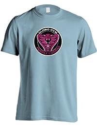 Prisionero - Globogym en color morado diseño de la película miedo T-camiseta de manga corta Cobras