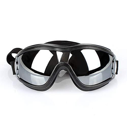 Monbedos Haustier-Sonnenbrille für Hunde, Bunte Brille, Winddicht, Sonnenschutz, UV-Schutz, Größe L, Schwarz