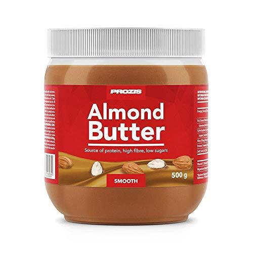 Prozis Crema de Almendras, Cremoso sin Sal Añadida y sin Grasas Trans - 500 g