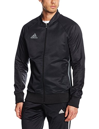 64b97477ad1 Adidas Men Condivo 16 Anthem Jacket - Black/Vista Grey, Large