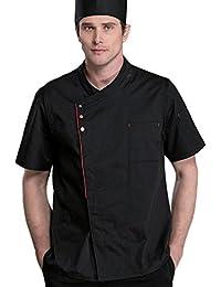 Dooxii Unisex Donna Uomo Estate Manica Corta Giacca da Chef Professionale  Ristorante Occidentale Cucina Mensa Hotel c559a99bbbe5
