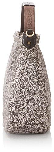Borbonese Hobo C/T Medium, Borsa a Spalla Donna, 102 x 90 x 36 cm (W x H x L) Marrone (Op Classico/Marrone)