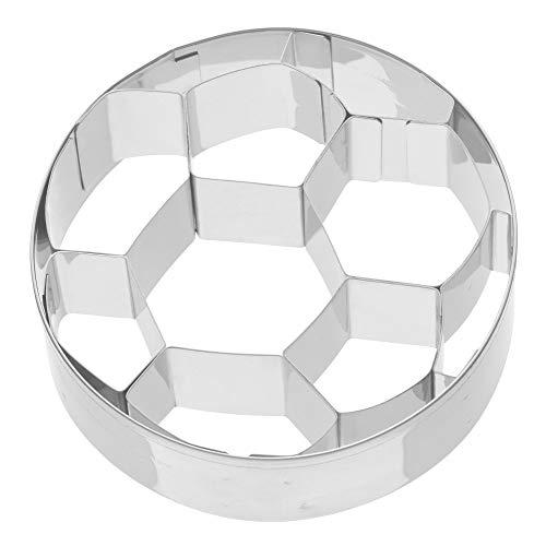Kaiser Plätzchen Ausstecher Fußball, Ausstechform für Kekse, Edelstahl 7,5 x 7,5 x 2,5 cm