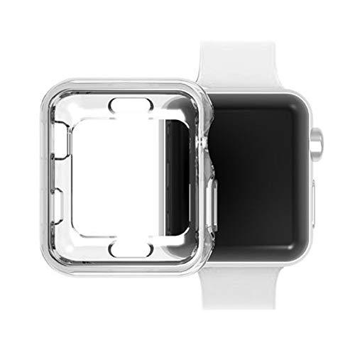 YusellYu_Mädchen Strampler Jumpsuit Yusell  Ultraschlank klar TPU schützen case Abdeckung für Apple Watch Series 3 38mm -