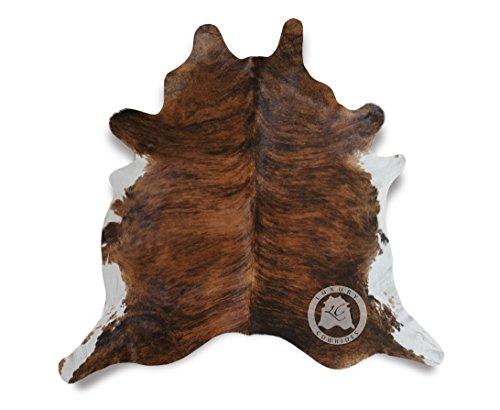 Teppich aus Kuhfell, Farbe: Braun & Weiß Tiger, Größe circa 180 x 210 cm, Premium - Qualität von Pieles del Sol aus Spanien