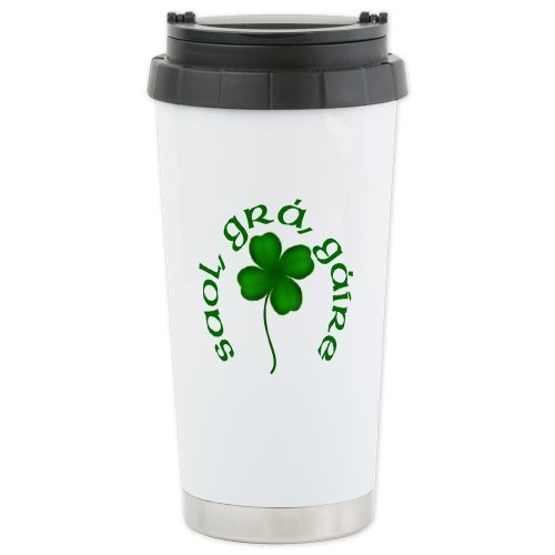 CafePress Life, Love, Laughter Ceramic Travel Mug - Standard Multi-color by CafePress