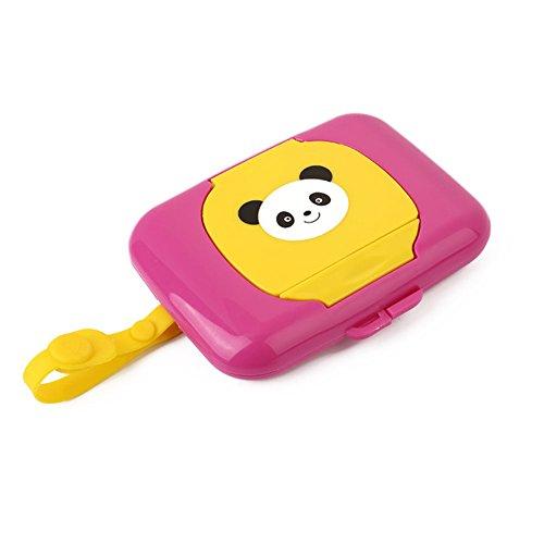 Zhongyu tragbare Baby-Tücher-Box, niedliche Kinderreise-Wischtücher, Pop-Up-Design, nachfüllbar, echte Taschentücher, Papierhalter