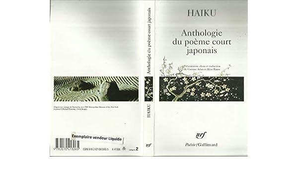 Amazonfr Haïku Anthologie Du Poème Court Japonais