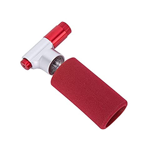 Babimax Pompe CO2 Mini Pompe à Vélo Ultra Léger Haute Pression Solide Pompe à Main Mini en Alliage Portable pour Sport Loisir Vélo Buée Balle Basketballe Rouge Sans Cartouches de CO2